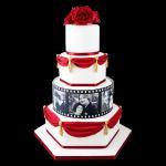 torta de aniversario roja