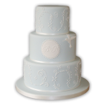 torta de confirmación celeste