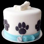 torta de perros con huellitas